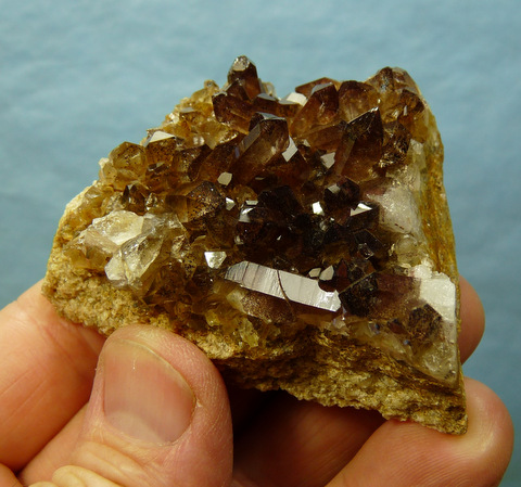 Brownish quartz crystals on matrix