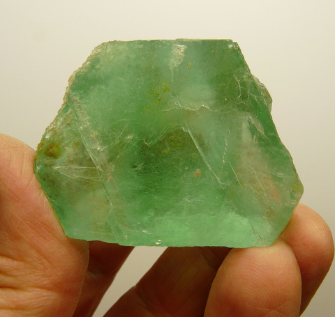 Green fluorite piece, apparently cleaved