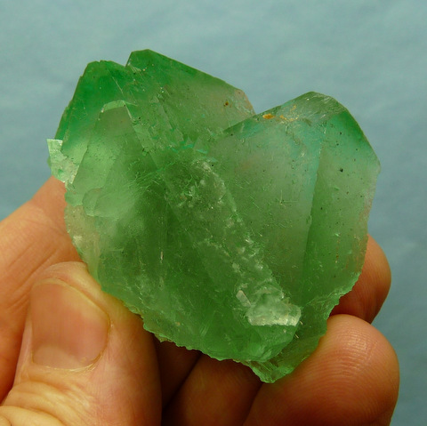 Lovely green fluorite crystal group with minute pyrite inclusions