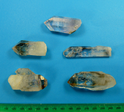 Brandberg quartz crystals - damaged, but still pretty