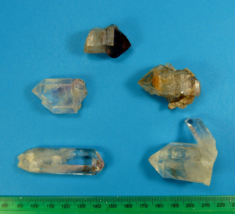 Brandberg quartz crystals in bulk