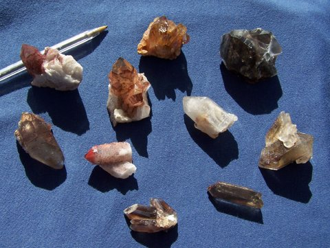 Colourful variety of Northern Cape mineral specimens