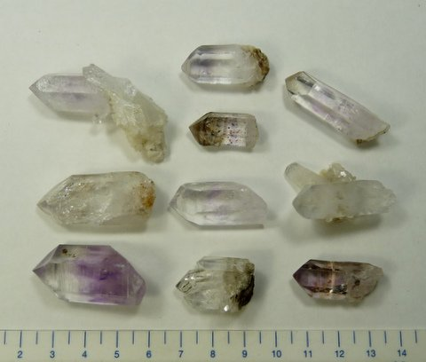 Bulk medium sized Brandberg quartz crystals, Namibia