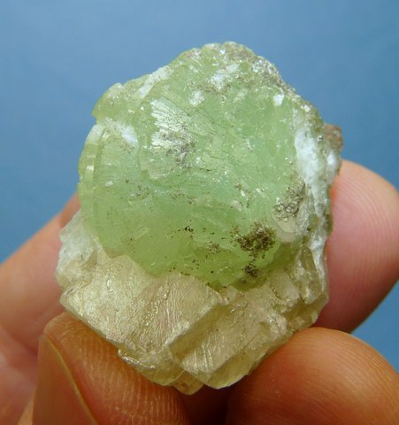 Prehnite, calcite and quartz specimen