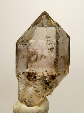 Light smoky sceptre quartz crystal
