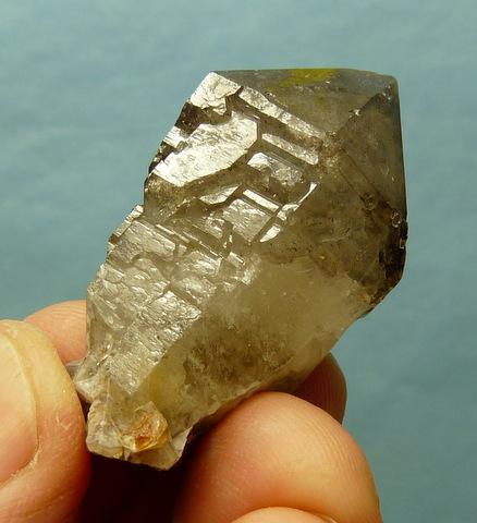 Phantom quartz crystal with fascinating facet growth