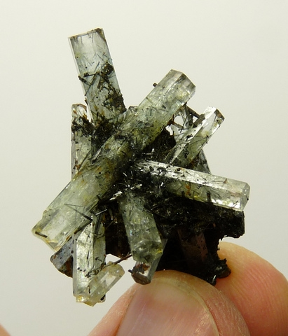 Aquamarine and schorl crystal cluster