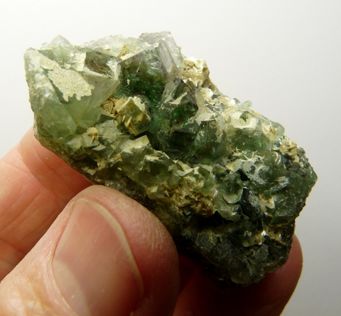 Apatite crystal on fluorite