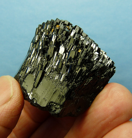 Schorl crystal with lovely facets and 'mercedes' termination