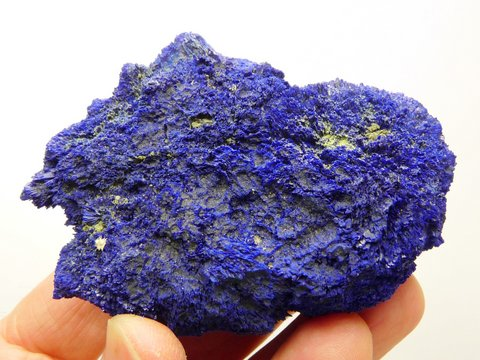 Large nodule of azurite made up of tiny crystals
