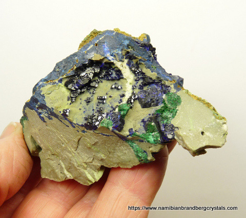 An azurite crystal with a beautiful colour and lovely, flat terminations.