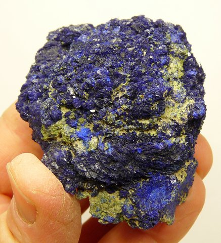 Azurite nodule with light to dark blue colouring