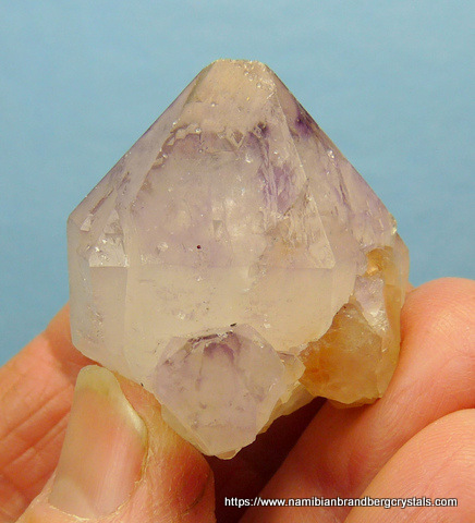 Cactus quartz crystals with lovely amethyst colouring