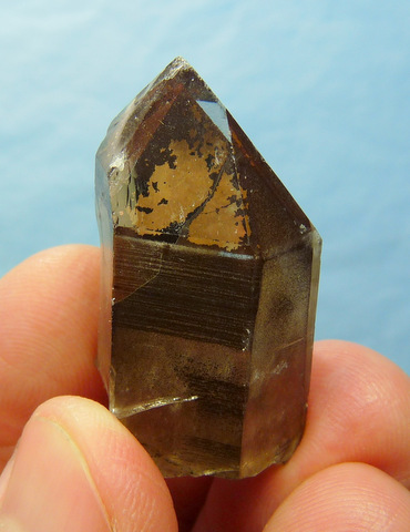 Phantom quartz crystal with interesting colouration