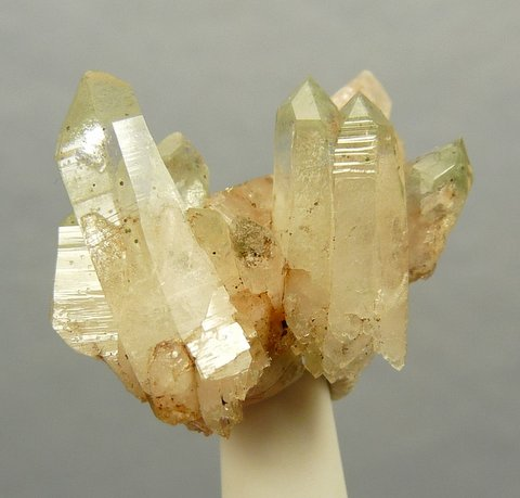 Phantom quartz crystal group with chlorite inclusions