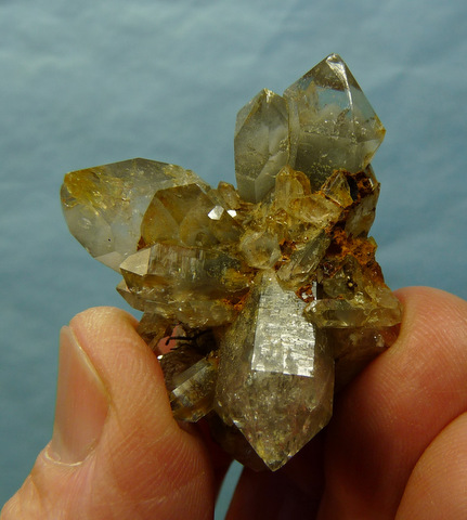 Phantom quartz crystal cluster