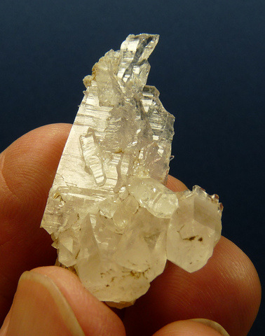 Quartz crystal group with beautiful faces / facets