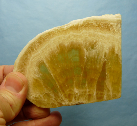 (?)Honeycomb calcite slice