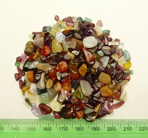 Sixty five grams of colourful lot of natural (mixed) tumbled stones