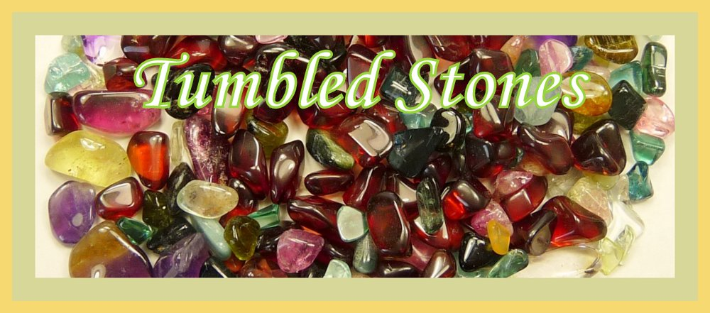 Colourful tumbled stones