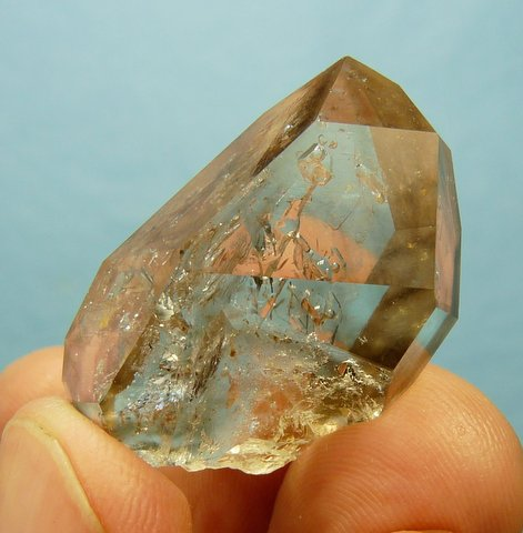 Very pretty, gemmy, double terminated light smoky crystal