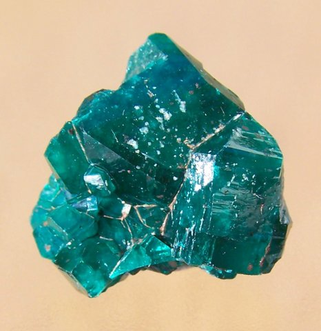 Cluster of dioptase crystals, Congo, Africa