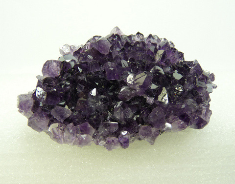 Drusy quartz crystals with lovely amethyst colour, on matrix