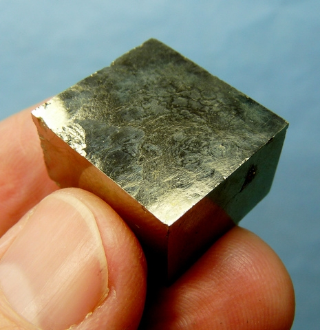 Tabular pyrite crystal from La Rioja, Spain