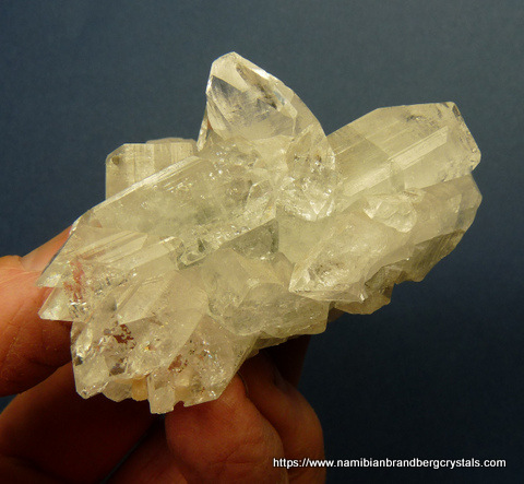 A group of apophyllite and calcite crystals